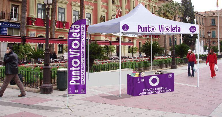 punt violeta