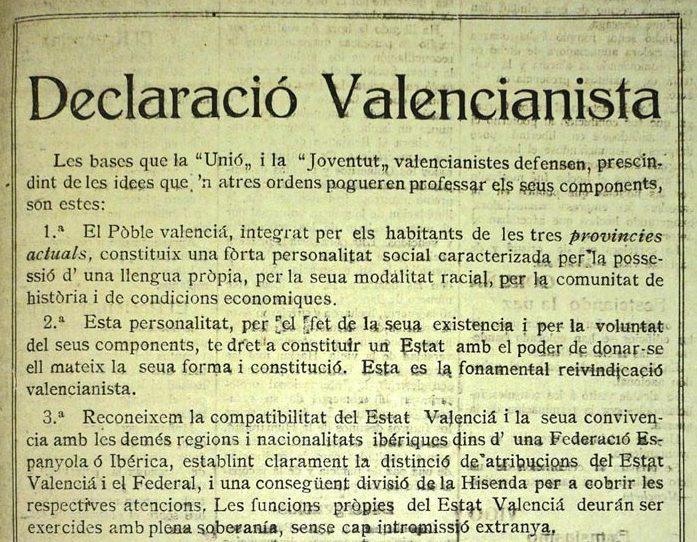 declaracio valencianista