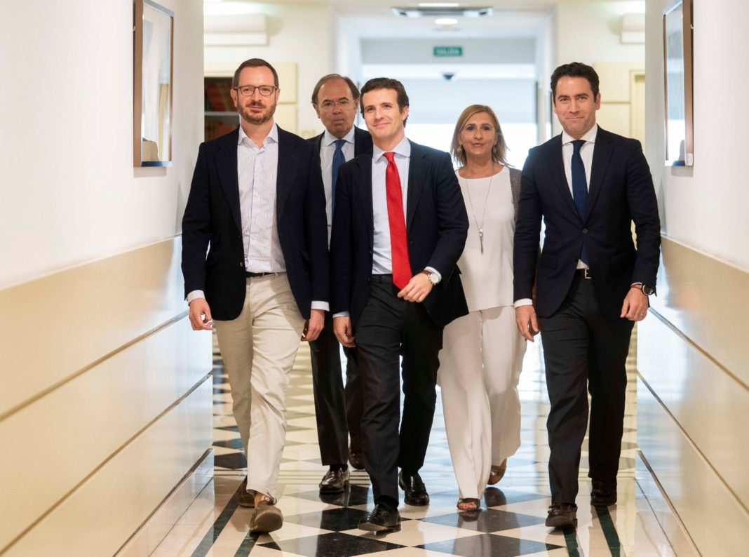 Pradas amb Pablo Casado, García Egea i Maroto / PP Castellón