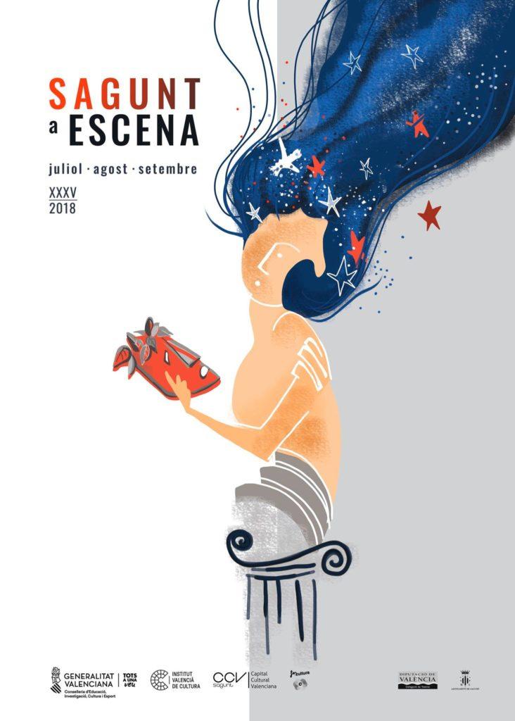 Cartell del Festival Sagunt a Escena 2018 / Valencia Teatros