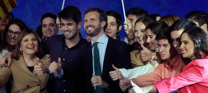 Casado en València amb Bonig i Hoyo / EFE