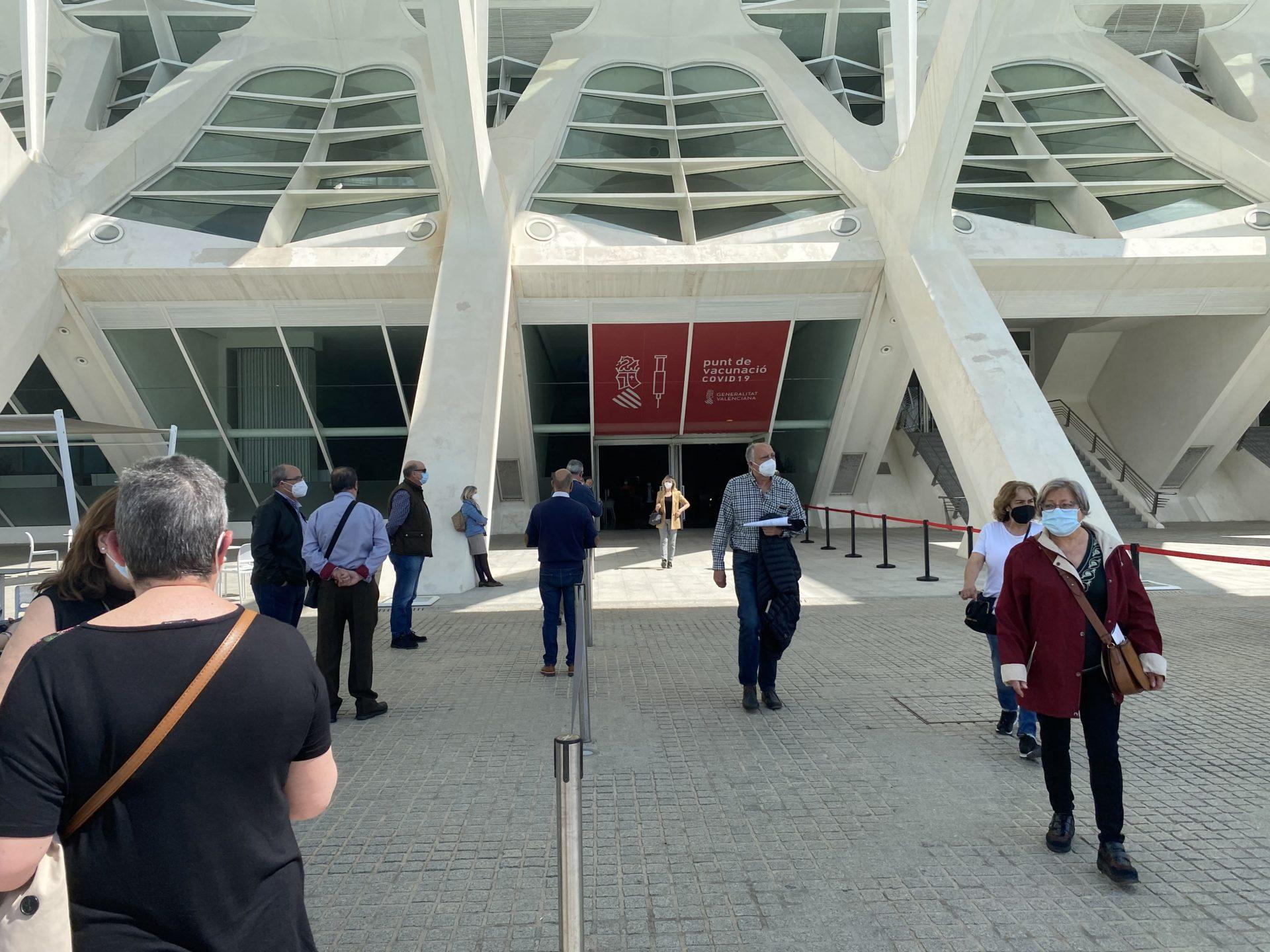 Vacunación masiva Arts i les Ciéncies València