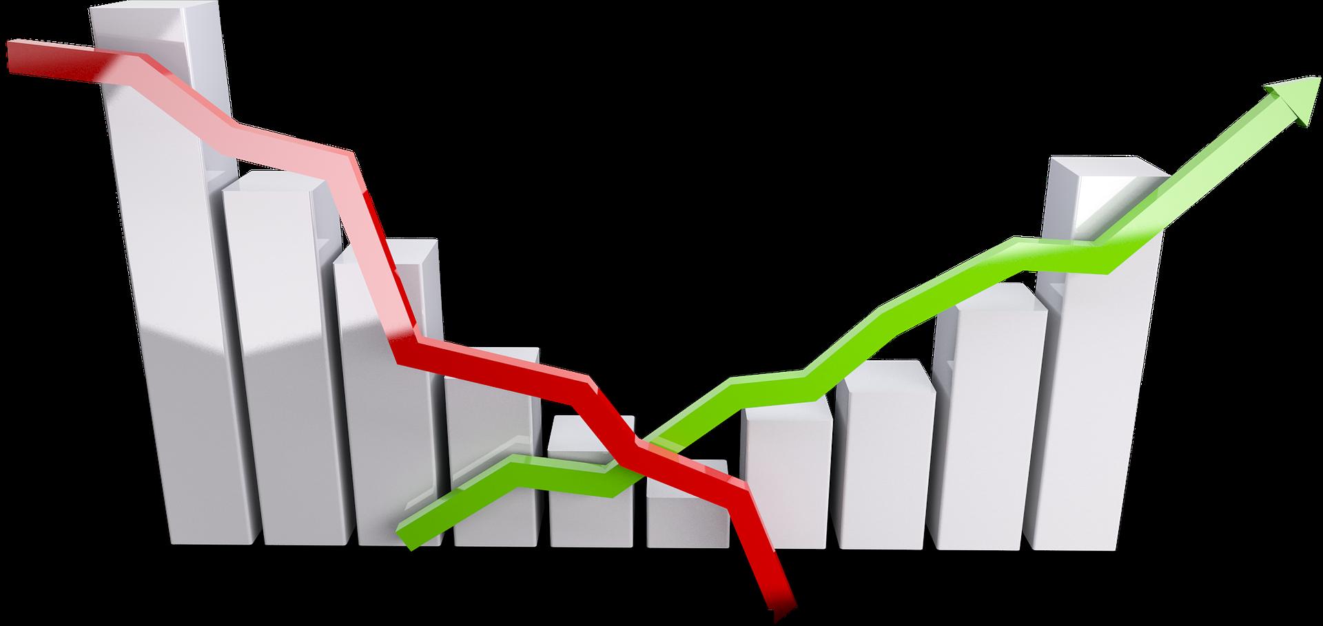 Gráfica de inversión en depósitos