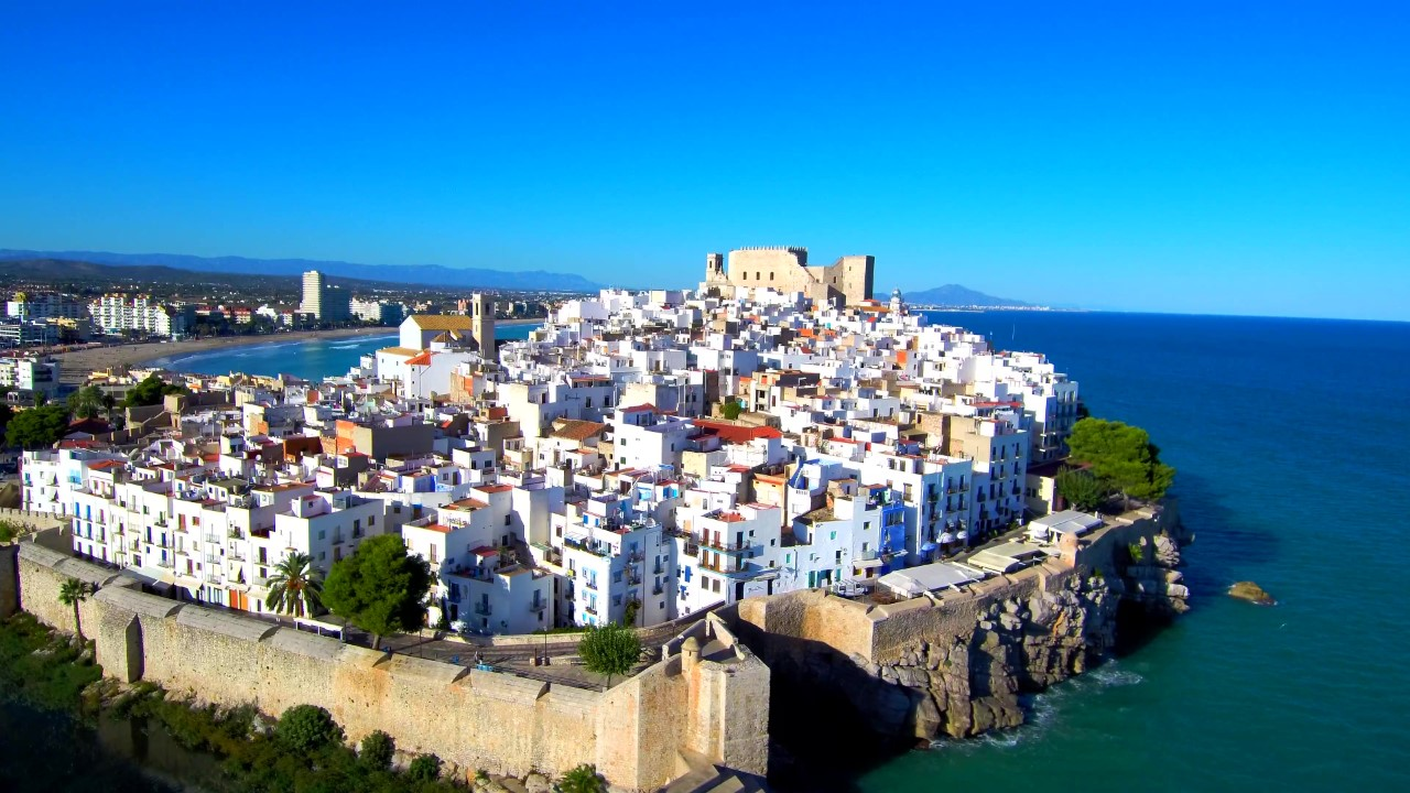 Vista aérea de la localidad turística de Peñiscola
