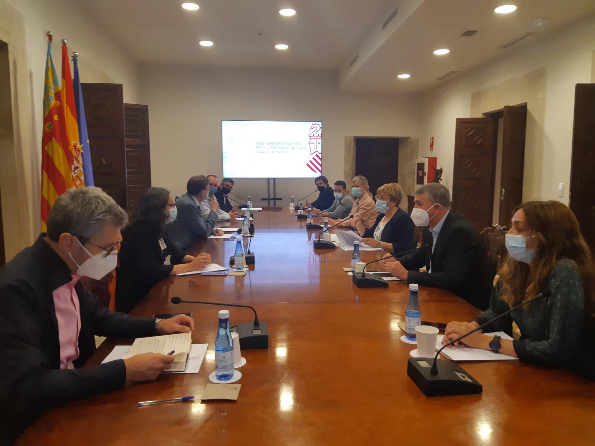 Reunión de la mesa interdepartamental de la Generalitat
