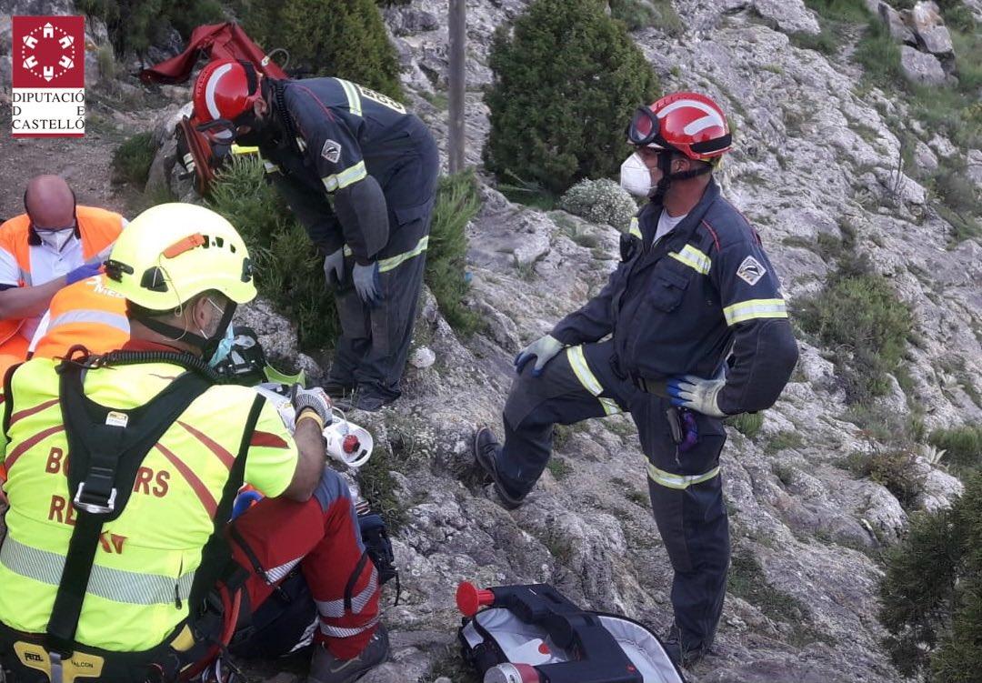 Imagen del rescate del senderista en Pina de Moltalgraó