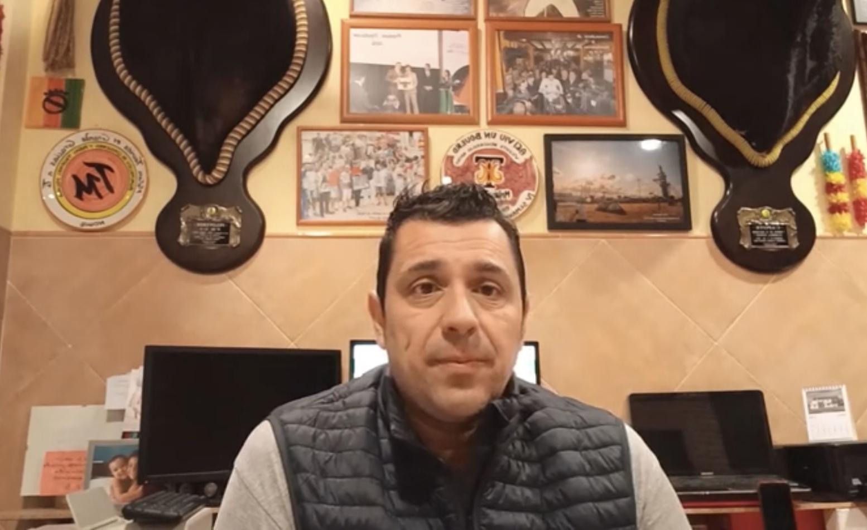 Vicente Nogueroles, presidente de la Federación de Peñas Taurinas de 'Bou al Carrer'