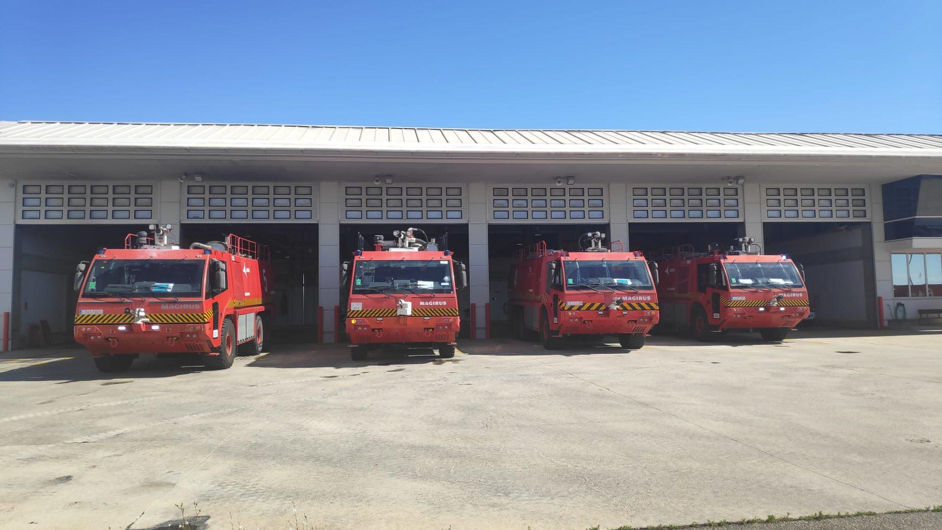 Parque de bomberos del Aeropuerto del Altet (Alicante) Imagen: SBA
