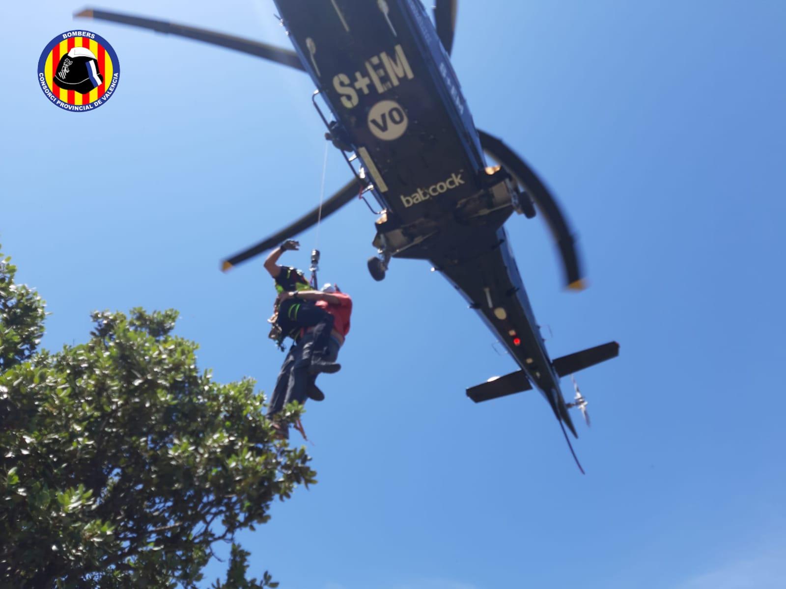 Imagen del rescate senderista Serra Calderona