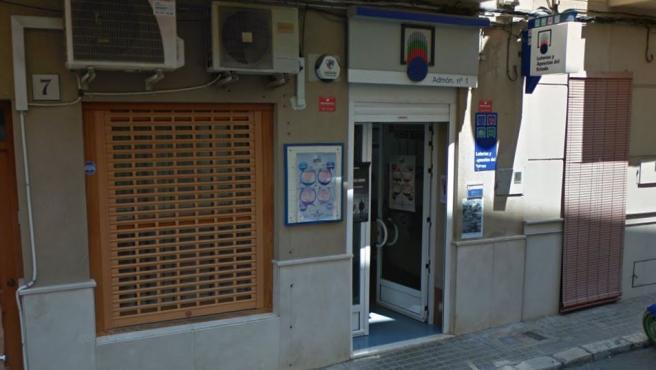 Imagen de una administración de loterías de Llosa de Ranes