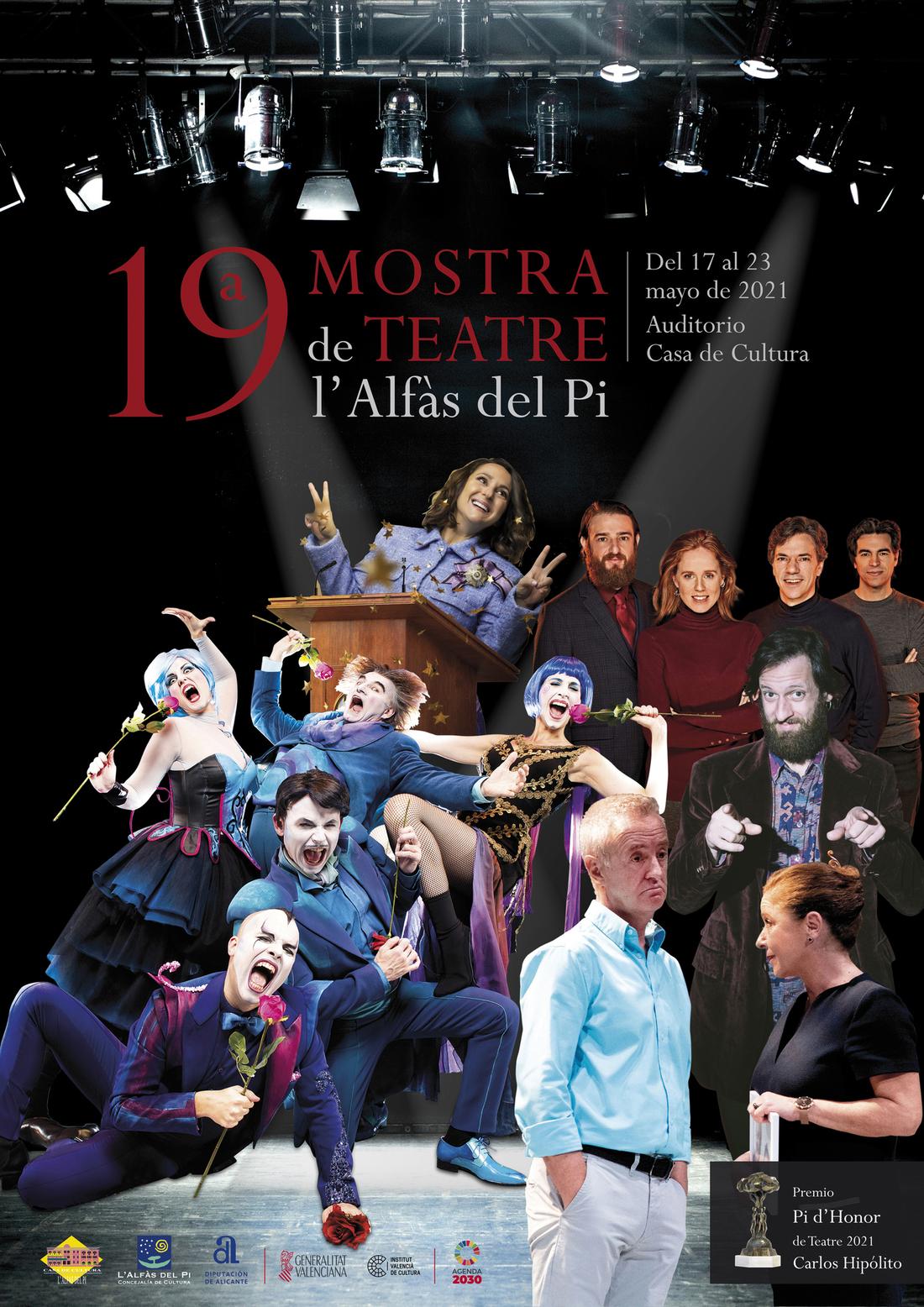 Cartel 19ª Mostra de Teatre l'Alfàs del Pi 2021