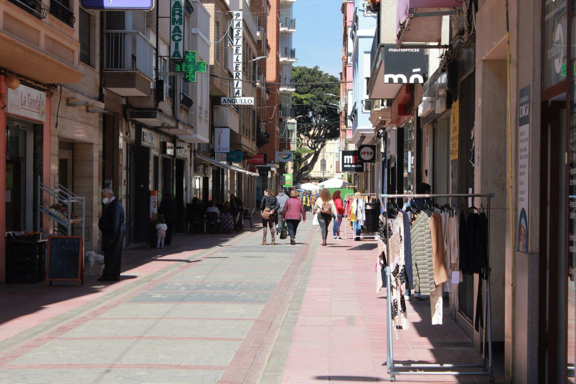 Calle comercial de Burriana