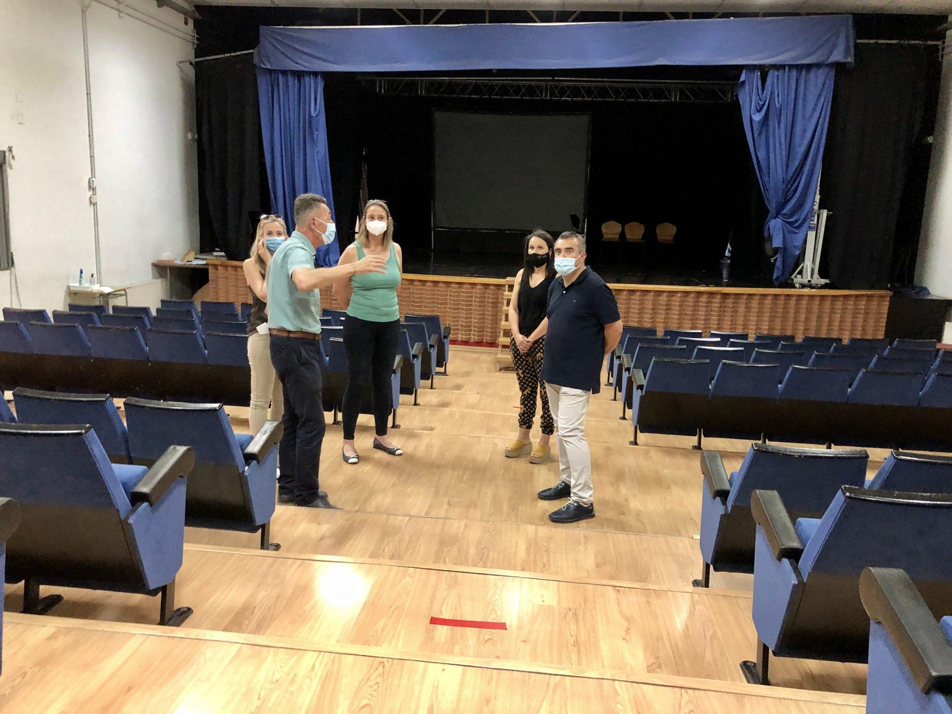 Los concejales visitan el Auditori Les Boqueres
