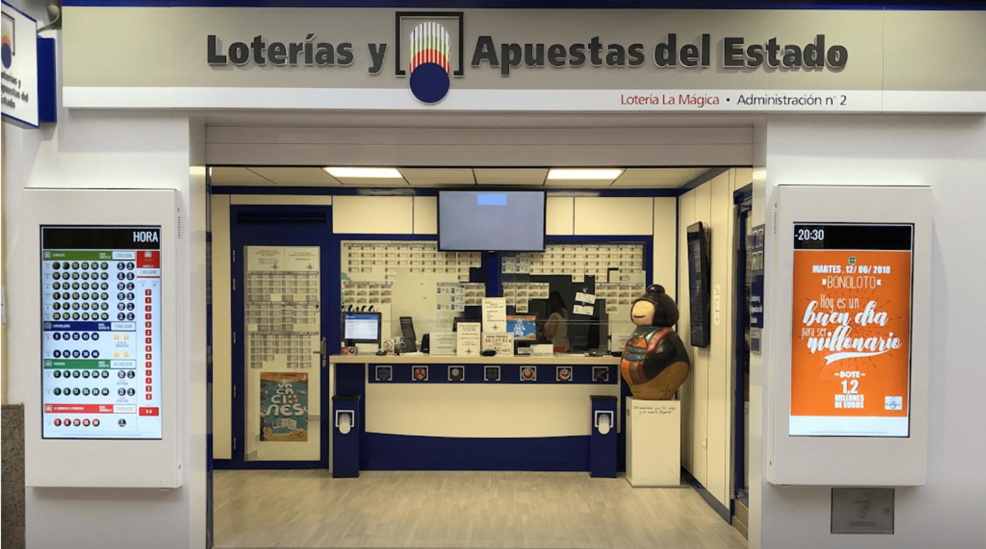 Administración de Loterías número nº 2 de Mislata, situada en la calle Poeta Miguel Hernández, 9