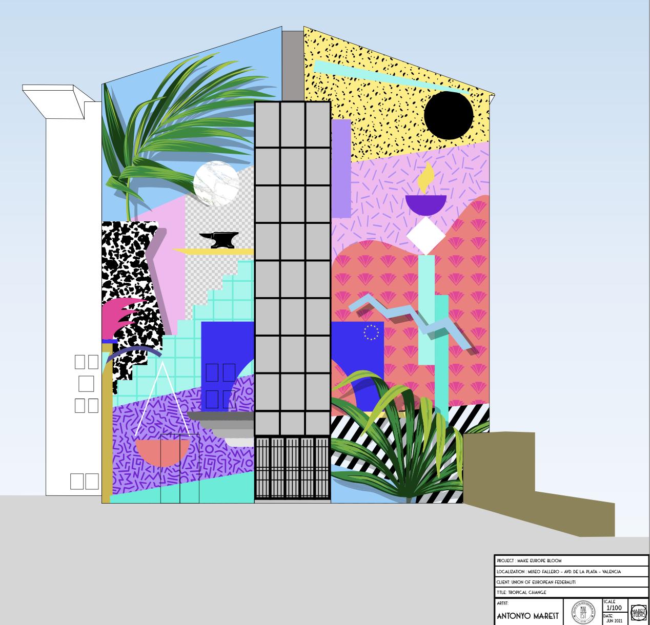 Propuesta de mural de arte urbano Museo Fallero   Ayuntamiento de València
