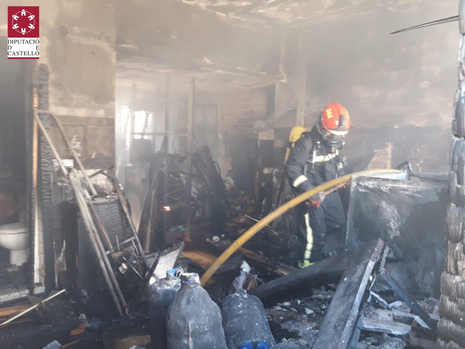 Incendio vivienda de Moncofa