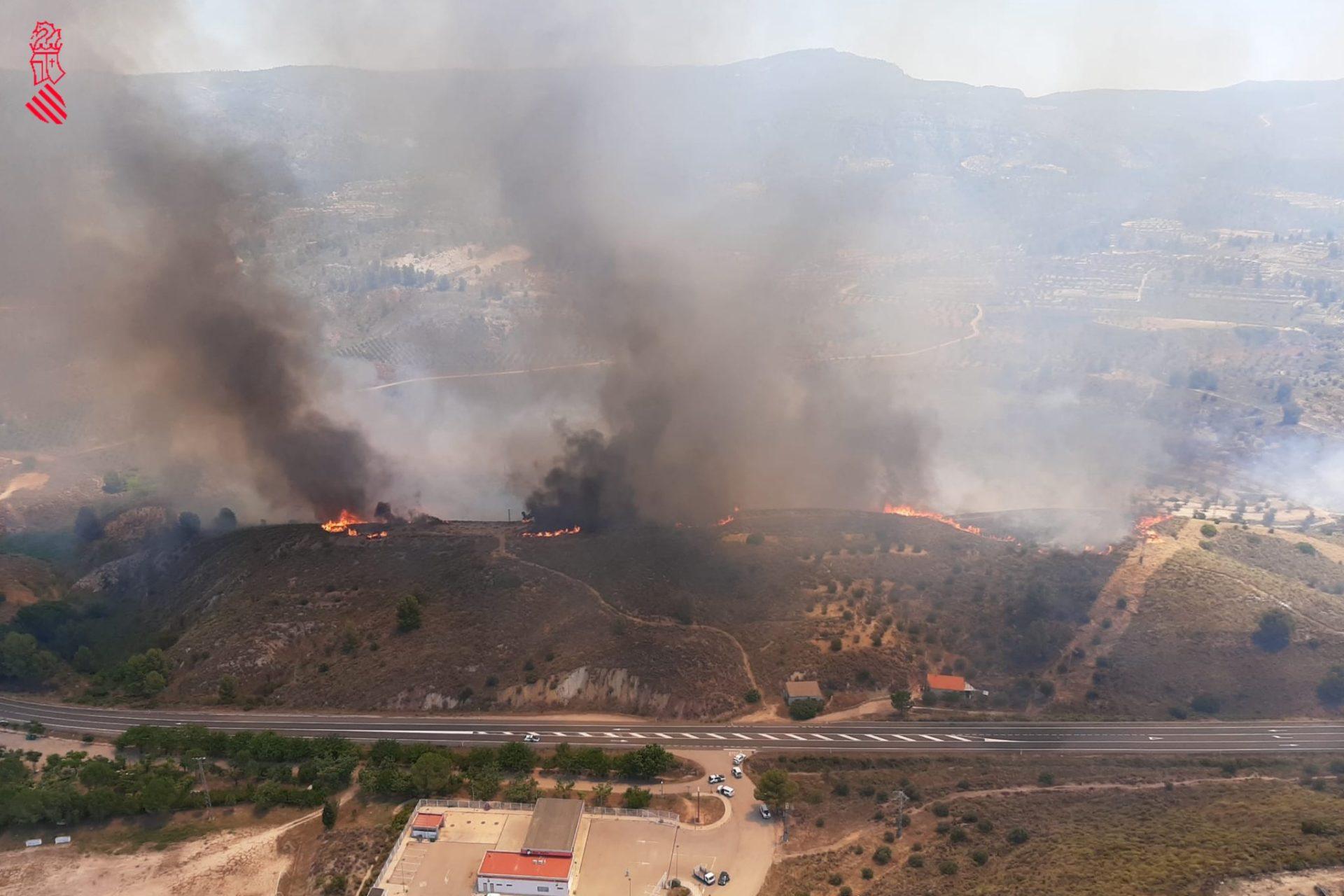 Incendio forestal Jalance